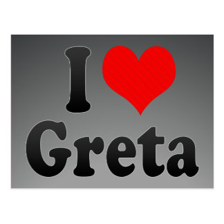 I love Greta Post Cards