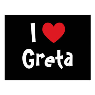 I Love Greta Postcard