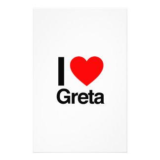 i love greta stationery paper