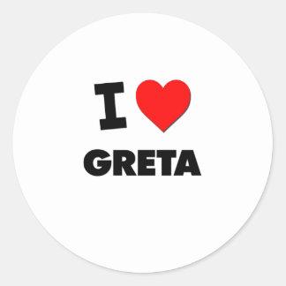 I Love Greta Sticker