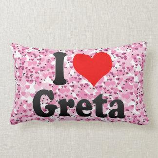 I love Greta Throw Pillow