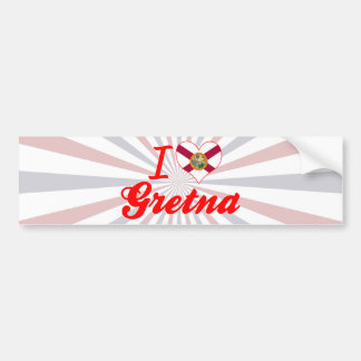 I Love Gretna, Florida Bumper Sticker