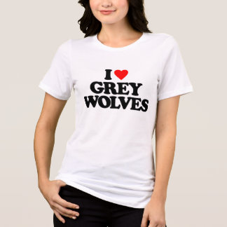 I LOVE GREY WOLVES TEES