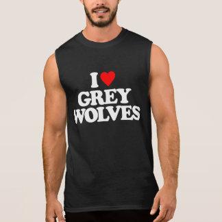 I LOVE GREY WOLVES SLEEVELESS TEE