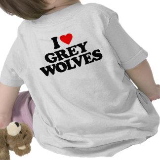 I LOVE GREY WOLVES TEE SHIRT