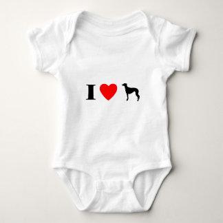 I Love Greyhounds Baby Bodysuit