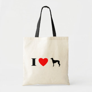 I Love Greyhounds Bags