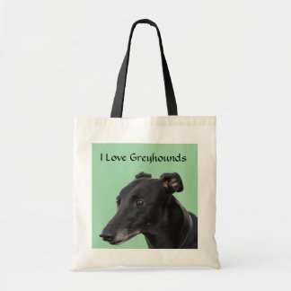 I Love Greyhounds Canvas Budget Tote Bag
