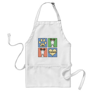 I Love Greyhounds Standard Apron