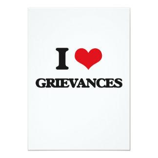 """I love Grievances 5"""" X 7"""" Invitation Card"""