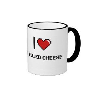 I Love Grilled Cheese Ringer Mug