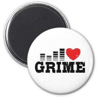 I Love Grime 6 Cm Round Magnet