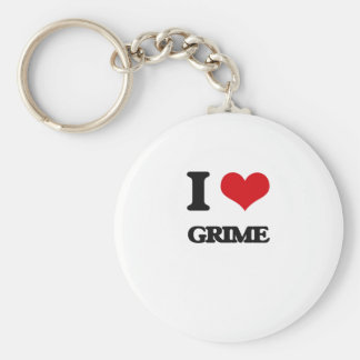 I Love GRIME Basic Round Button Key Ring