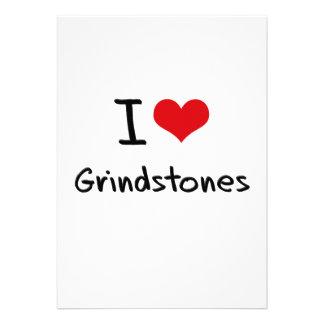 I Love Grindstones Invitations