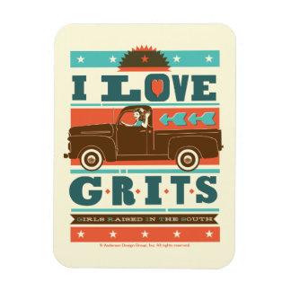 I Love Grits Rectangular Photo Magnet