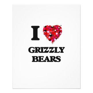 I Love Grizzly Bears 11.5 Cm X 14 Cm Flyer