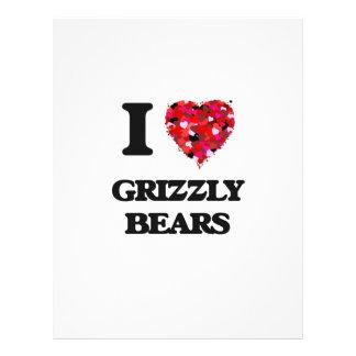 I Love Grizzly Bears 21.5 Cm X 28 Cm Flyer