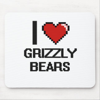 I love Grizzly Bears Digital Design Mouse Pad