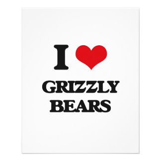 I love Grizzly Bears 11.5 Cm X 14 Cm Flyer