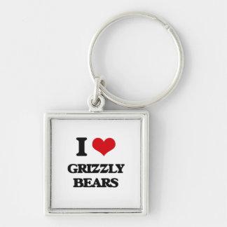 I love Grizzly Bears Keychain