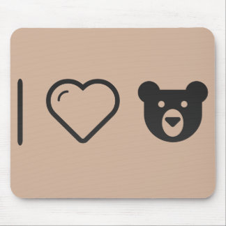 I Love Grizzly Bears Mouse Pad