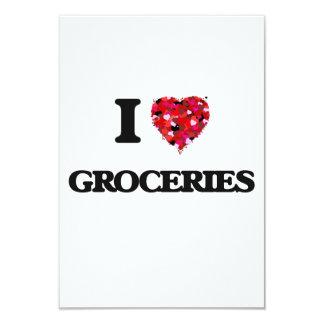 I Love Groceries 9 Cm X 13 Cm Invitation Card