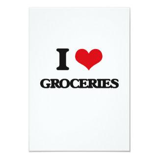 "I love Groceries 3.5"" X 5"" Invitation Card"
