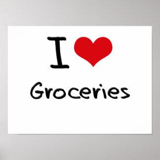I Love Groceries Print