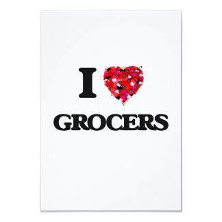 I love Grocers 3.5x5 Paper Invitation Card