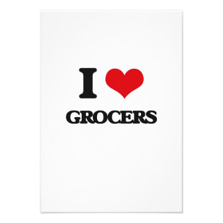 I love Grocers Personalized Invitation