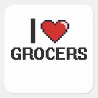 I love Grocers Square Sticker