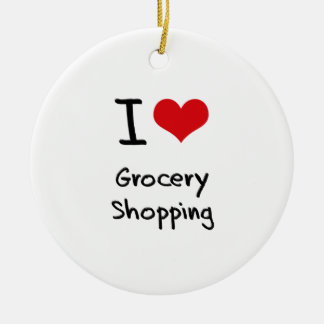 I Love Grocery Shopping Christmas Ornament