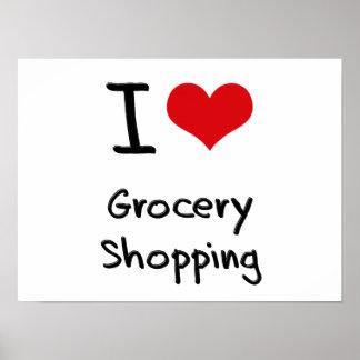 I Love Grocery Shopping Print