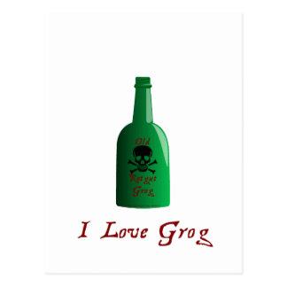 I love Grog! Postcard