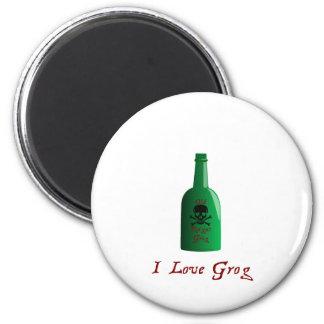 I love Grog Refrigerator Magnet