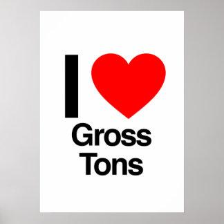 i love gross tons poster