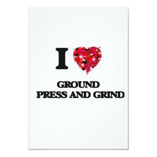 I Love Ground   Press And Grind 9 Cm X 13 Cm Invitation Card