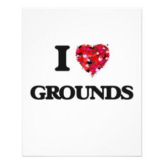 I Love Grounds 11.5 Cm X 14 Cm Flyer