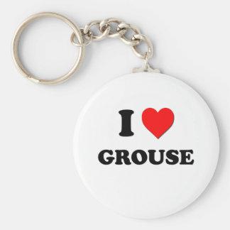 I Love Grouse Key Chain
