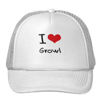 I Love Growl Mesh Hat