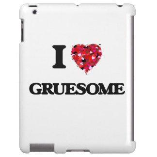 I Love Gruesome iPad Case