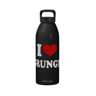 I Love Grunge Reusable Water Bottle