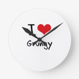 I Love Grungy Wallclock