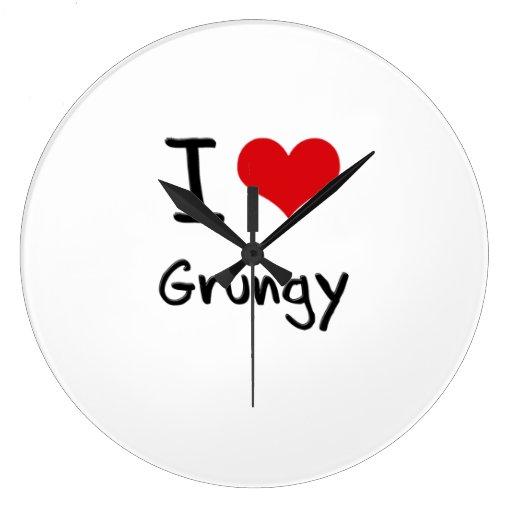 I Love Grungy Wall Clocks
