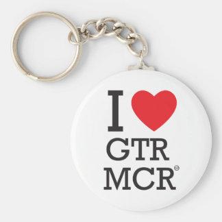 I love GTR MCR Basic Round Button Key Ring