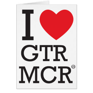 I love GTR MCR Greeting Card