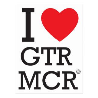 I love GTR MCR Postcard