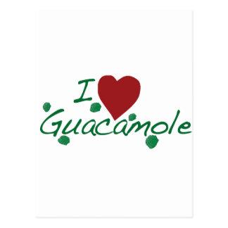 i love guacamole postcard