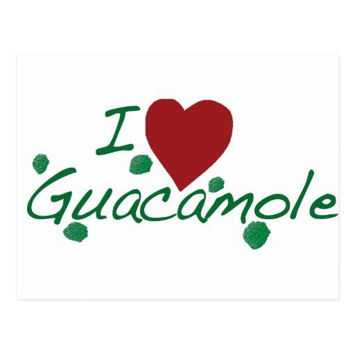 i love guacamole post card