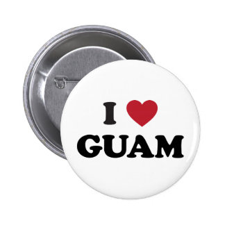 I Love Guam 6 Cm Round Badge